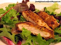Pistachio Chicken over Greens