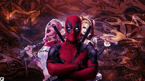 Wallpaper Deadpool, Harley Quinn, Artwork, 4K, Movies, #4322