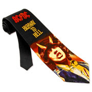 AC/DC Highway To Hell black silk Tie