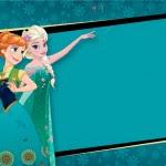 Convite Frozen Fever Elza e Anna