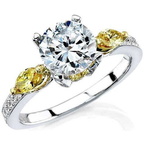 18k White and Yellow Gold Golden Marquise Diamond Side