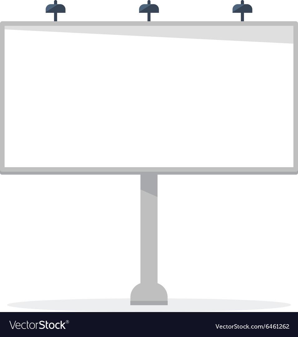 White blank billboard template vector by Sasha_Balazh - Image ...
