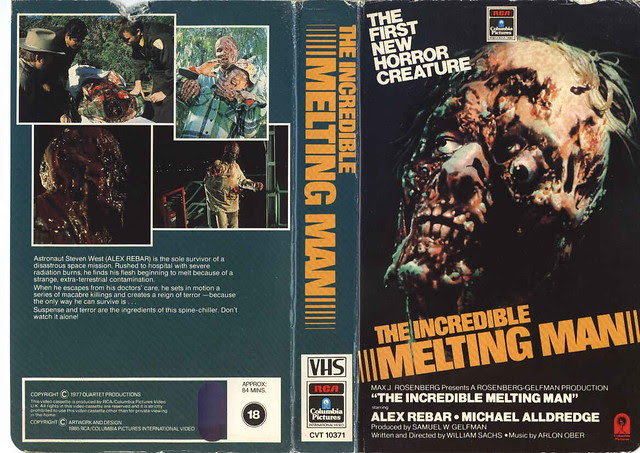 The Incredible Melting Man (VHS Box Art)