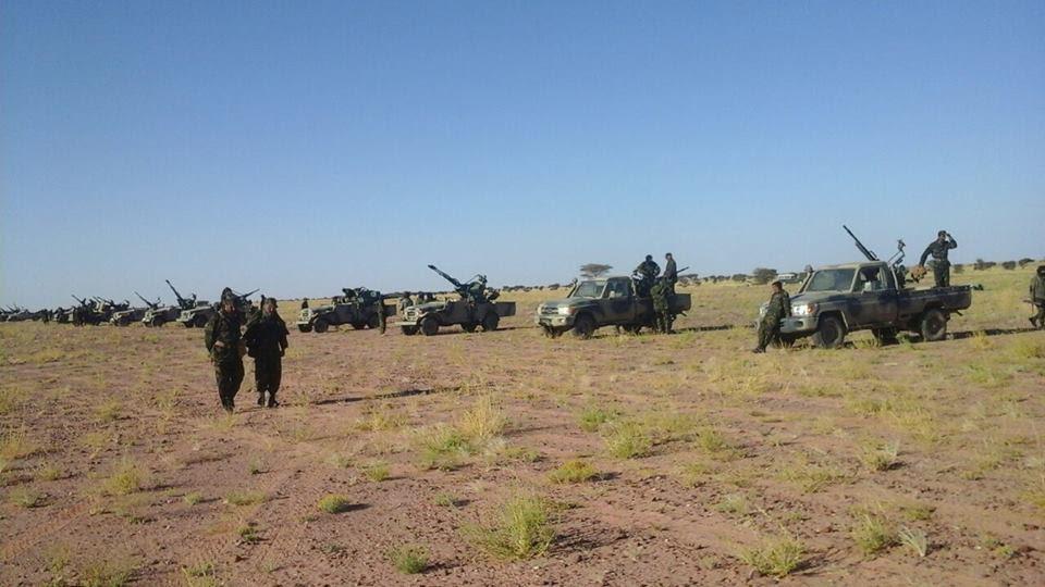 بدعم جزائري. البوليساريو تعلن الحرب على المغرب . دايرة مناورات عسكرية بئر لحلو