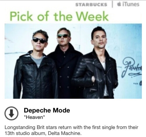 Starbucks iTunes Pick of the Week - Depeche Mode - Heaven