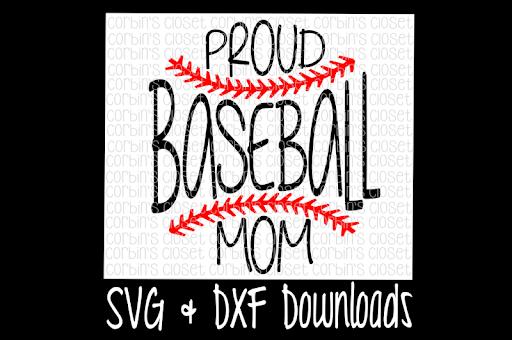 Free Baseball Svg Baseball Mom Svg Proud Baseball Mom Cut File Crafter File