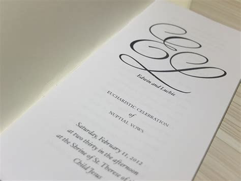 personal project: wedding missalette on Behance