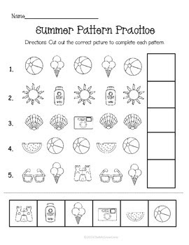 Summer Pattern Practice Page