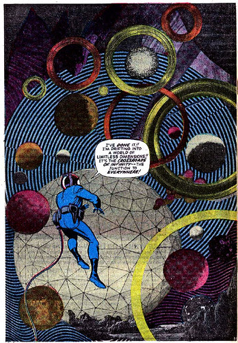 Jack Kirby photomontage from Fantastic Four #51 (June 1966)