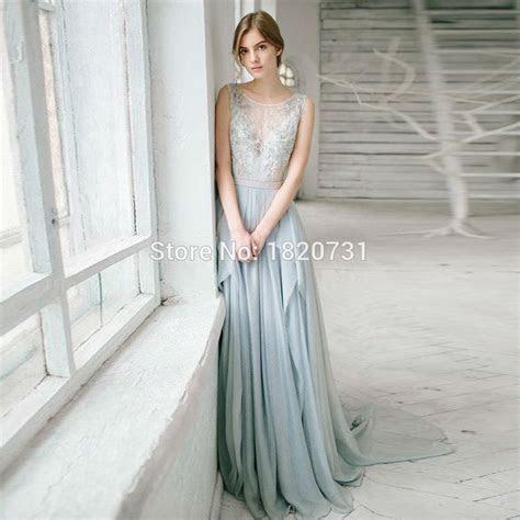 2017 Beautiful Silver Grey Bohemian Wedding Dresses Sexy