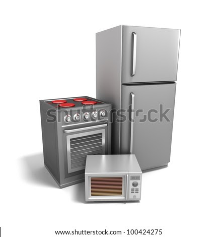 Kitchen Electronics Over White. My Own Design Stock Photo ...