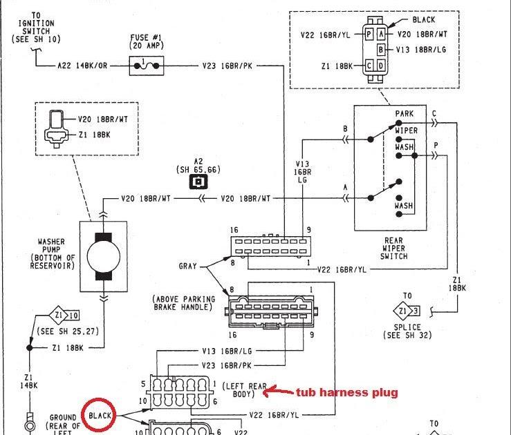 Motor Wiring Diagram 1994 Jeep Wrangler