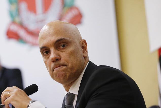 Secretário de segurança pública do Estado, Alexandre de Moraes