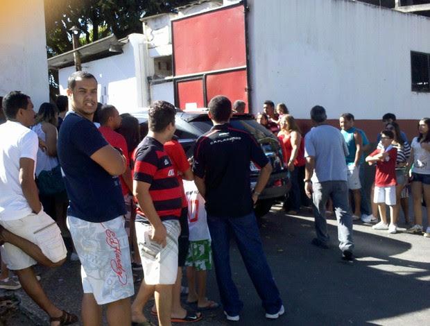 Torcedores Flamengo Gávea (Foto: Richard Souza / Globoesporte.com)