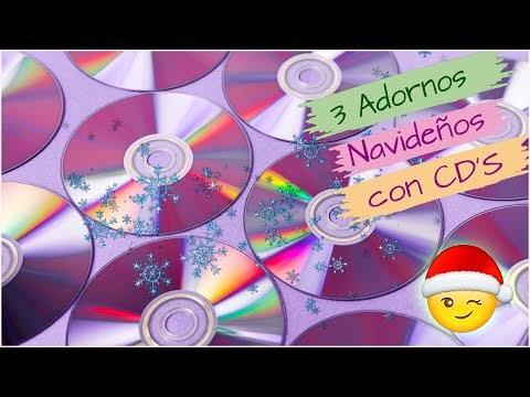 ¡¡¡Con CD'S ✅ 3 ideas FACILES y rápidas para NAVIDAD!!. Adornos navideño...