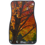 Autumn Leaves of Yellow and Orange Car Mat