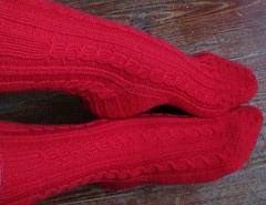 RibCable socks