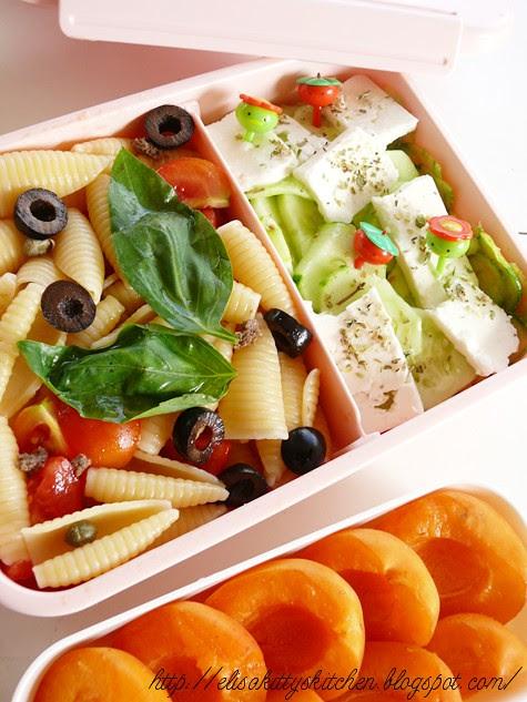 bento con insalata di pasta