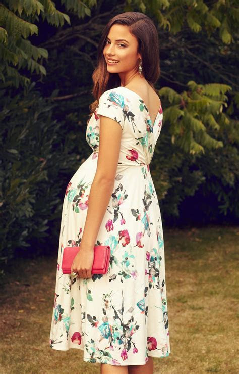 Alessandra Maternity Dress Short Painterly Floral