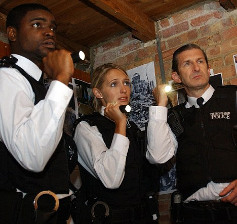 The bitter end: PCs Sally Armstrong (Ali Bastian), Benjamin Gayle (Micah Balfour) and Reg Hollis (Jeff Stewart) in a 2007 episode of The Bill