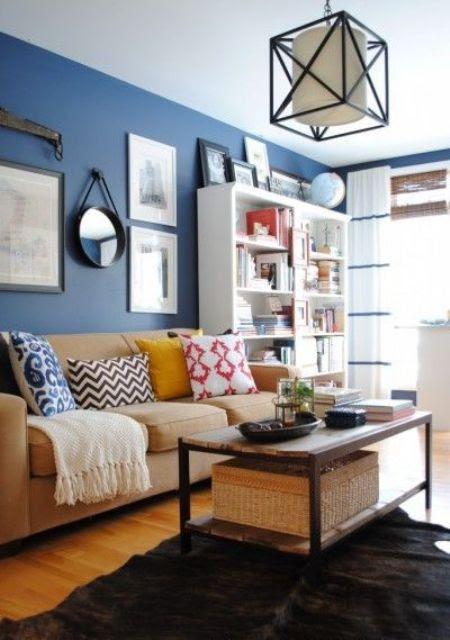 cool blue brown living room | Junk Yard: [FunMag.org] Cool Brown And Blue Living Room ...