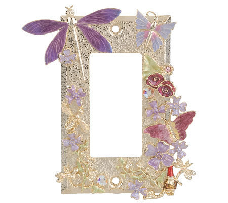 Kirks Folly Fairy Garden Light Switch Plate  Page 1 — QVC.com