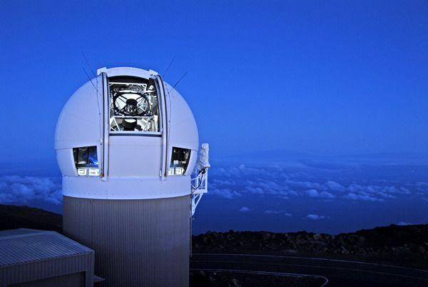 The Panoramic Survey Telescope & Rapid Response System (Pan-STARRS) 1 telescope on the summit of Mount Haleakala...at the Hawaiian island of Maui.