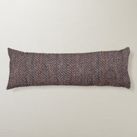 Brown and Blue Tweed Image Body Pillow