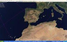 Trayectoria Del Satélite ROSAT A Su Paso Por La Península