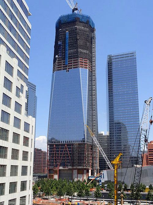The 1 World Trade Center as of July 10, 2011.