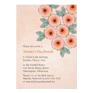 Blossom Bouquet Mother's Day Brunch Invitations