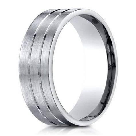 Men?s Designer 950 Platinum Wedding Ring with Polished