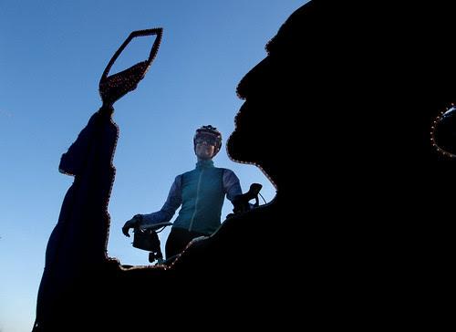 Giro d' Vino 2013 wine drinker sclupture