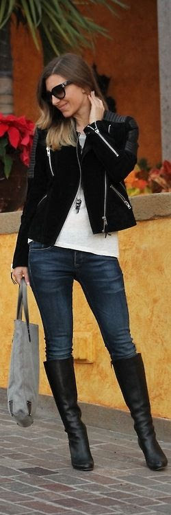 Casual classics: Biker jacket & Skinny jeans / Well-Living Blog