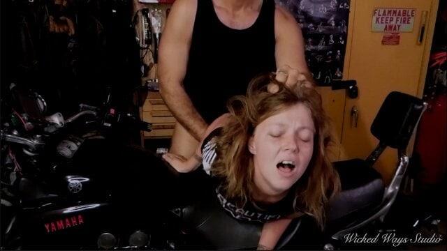 Biker Babe Takes a Hard Ass Fucking Bent Over a... | xHamster