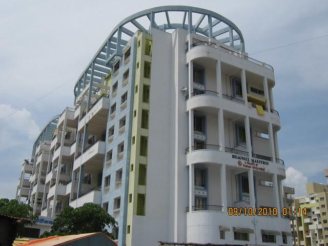 Bhagwati Maestros previous phase of Kishor Developers' Bhagwati Floriana 1 BHK 2 BHK Flats behind Maratha Mandir at Bavdhan Khurd in PMC Pune 411 021