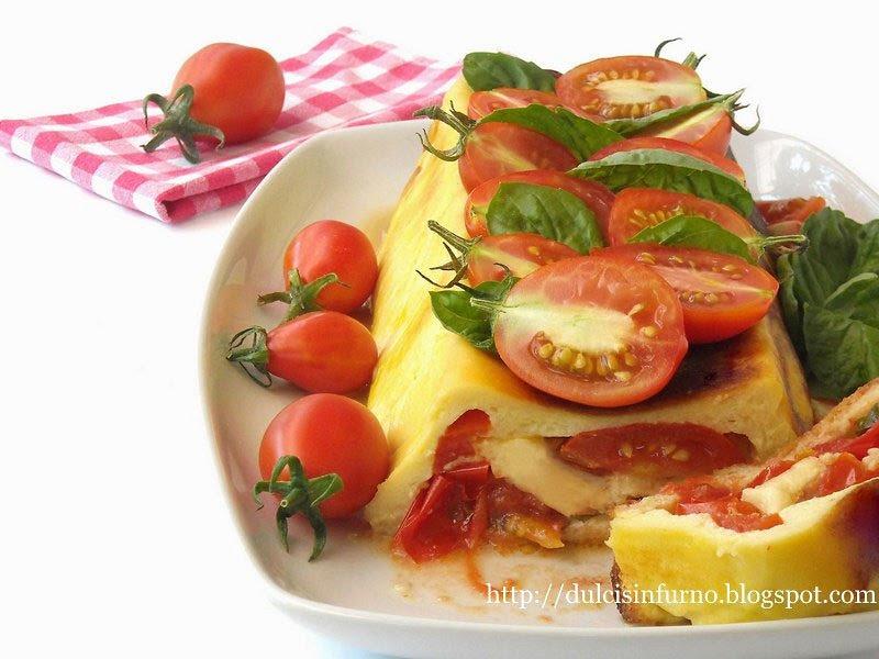 Cake di Pane, Pomodori e Mozzarella