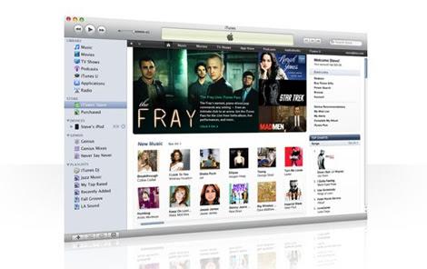 Aspecto del nuevo iTunes.