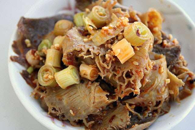 Sliced Beef & Tripe in Chilli Sauce