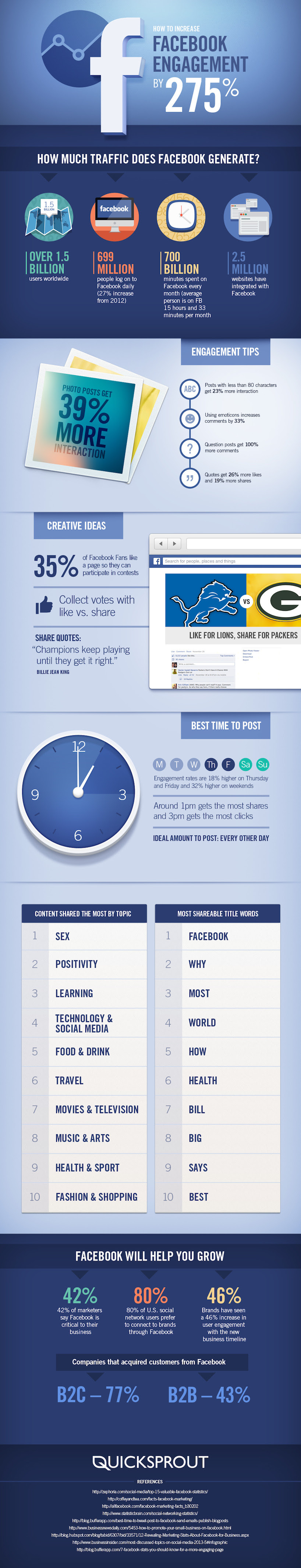 How to Increase Your Facebook Engagement by 275 percent - infographic