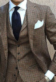 Brown Dogtooth Suit Dress Yy