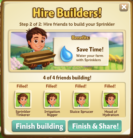 Sprinklers - FarmVille 2