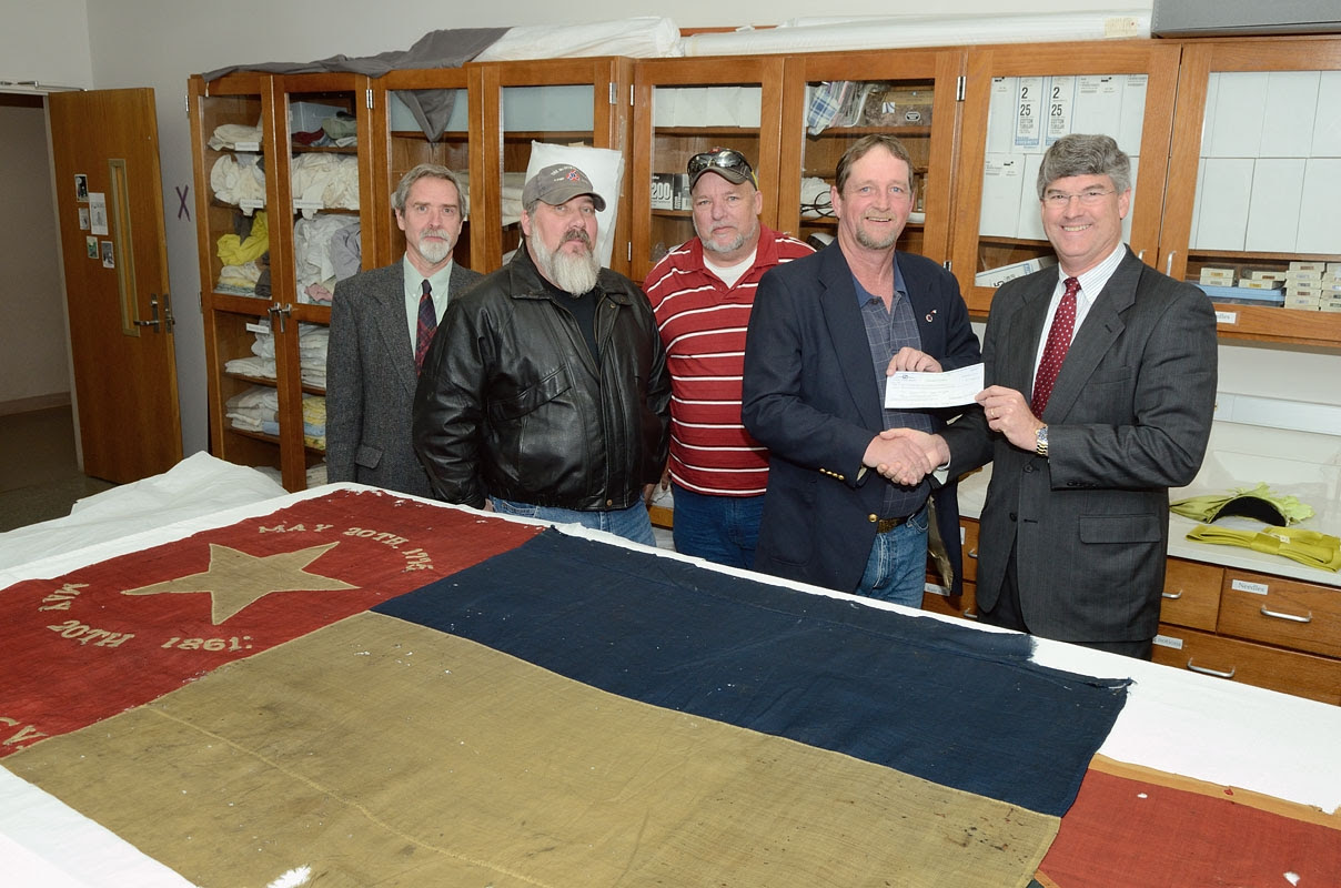 Sons of Confederate Veterans, Camp 379 in Marion, presented an $8,200 check to staff at the North Carolina Museum of History in Raleigh