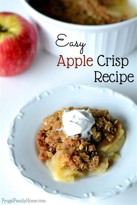 delicious  easy apple crisp recipe