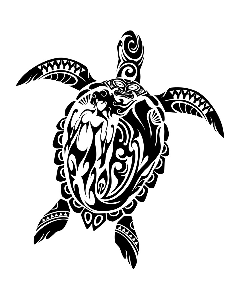 Awesome Tribal Turtle Tattoo Design