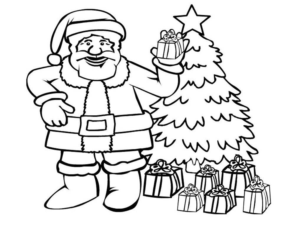 christmas santa claus coloring pages free printable - 1014×800