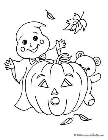 ausmalbilder halloween gespenst - ausmalbilder