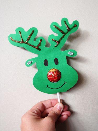 Lollipop Nose Reindeer