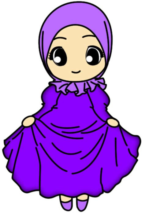 asha freebies doodle muslimah mini skirt comel