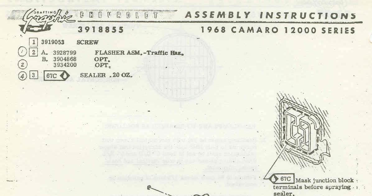 69 Camaro Fuse Box Diagram